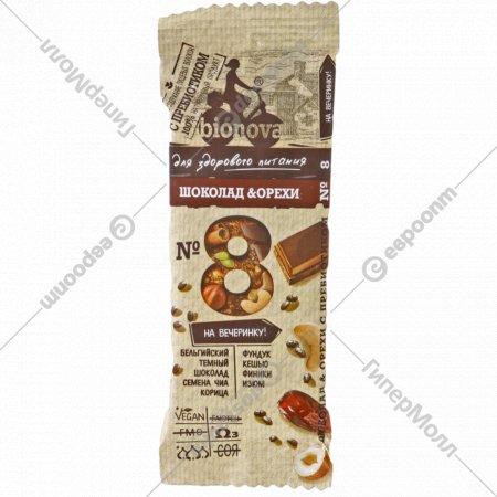 Фруктово-ореховый батончик «Бионова» с шоколадом, 35 г.