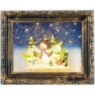Светодиодная фигура «Neon-Night» 501-163 Картина с эффектом снегопада.