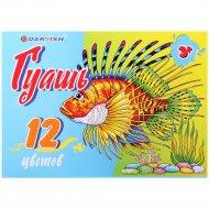Краски гуашевые «Darvish» 12 цветов, 240 мл.