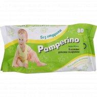 Детские влажные салфетки «Pamperino» без отдушки, 80 шт.