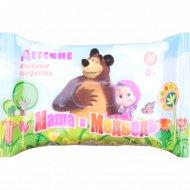 Детские влажные салфетки «Маша и медведь» 20 шт.