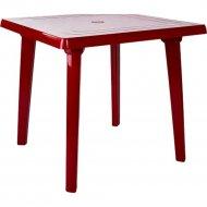 Садовый стол «Алеана» вишневый, 80х80 см