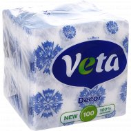 Салфетки бумажные «Veta» в ассортименте, 100 шт.