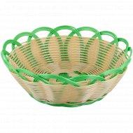 Корзинка плетеная круглая «Luxket» C-001, 24 см.