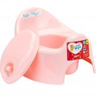Горшок детский «LittleAngel» Start, с крышкой, розовый