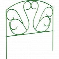Забор садово-парковый «Лебеди» (труба электросварная 10 мм, краска, цвет зелёный.).