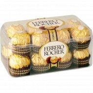 Конфеты из молочного шоколада «Ferrero Rocher» крем и лесной орех, 200 г.