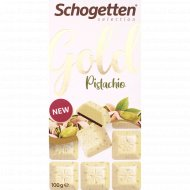 Шоколад белый «Schogetten Gold» с кусочками фисташек, 100 г