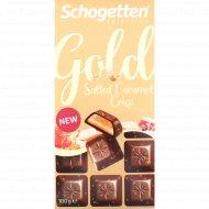 Шоколад молочный «Schogetten Gold» с рисовыми чипсами, 100 г