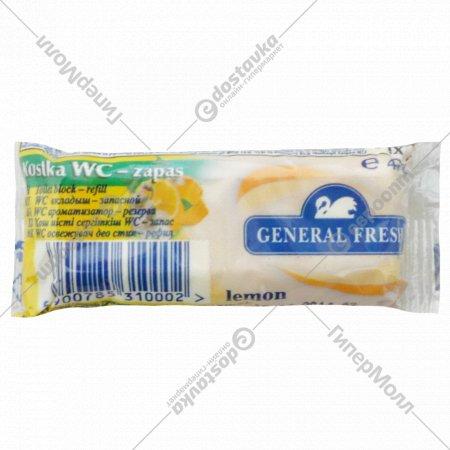 Вкладыш-запасной «General Fresh» для унитазов «Kostka» лимон, 40 г.
