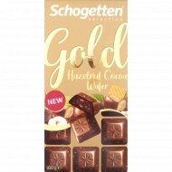 Шоколад молочный «Schogetten Gold» с фундуком и какао-кремом, 100 г