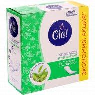 Прокладки женские «Ola!» Зелёный чай, 60 шт.