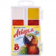 Краски медовые акварельные «Darvish» попугай, 8 цветов.