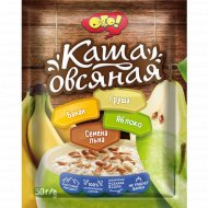 Каша овсяная «Ого» с яблоком, бананом, грушей и семенами льна, 50 г.
