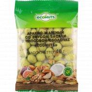 Арахис в чипсовой оболочке «Econuts» со вкусом васаби 40 г.