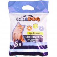 Наполнитель древесный «Сat&Dog» для кошачьего туалета, 2.5 кг.