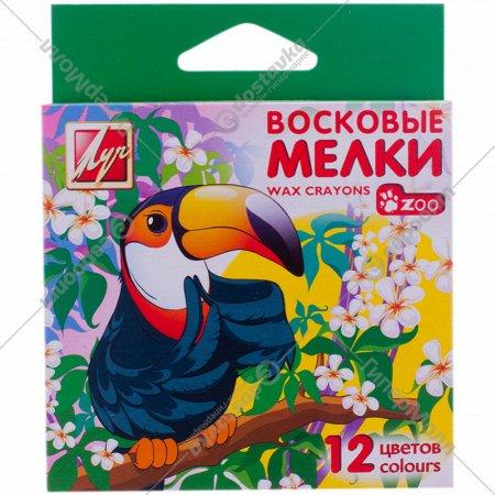 Мелки восковые «Zoo» 12 цветов.