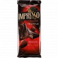 Шоколад «Impresso» горький с трюфельной начинкой, 200 г.
