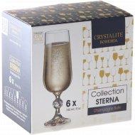 Бокал для шампанского «Конус» на низкой ножке , 180 мл, 6 шт.
