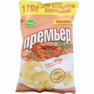 Чипсы картофельные «Премьер» со вкусом краба, 110 г.