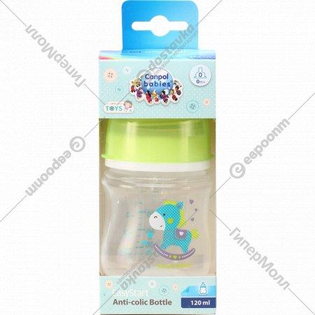Бутылочка «Canpol Babies» для кормления, антиколиковая, 120 мл.