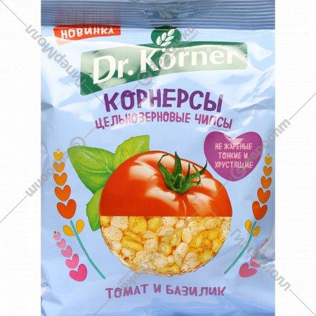 Чипсы цельнозерновые «Dr. Korner» с томатом и базиликом 50 г.