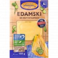 Сыр полутвердый «Wloszczowa» Edamski, сычужный, 45%, 150 г