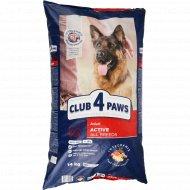 Сухой корм для взрослых активных собак «Club 4 Paws» 14 кг.