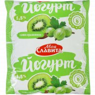 Йогурт «Моя Славита» киви-крыжовник, 1.5%, 500 г