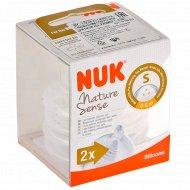 Соска силиконовая «NUK» Nature Sense, S, размер 1, 0-6 мес.