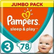 Подгузники «Pampers» Sleep & Play 5-9 кг, 3 размер, 78 шт.