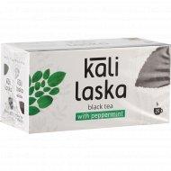 Чай чёрный «Kali Laska» с мятой, 25 саше-пакетов по 2 г, 50 г.