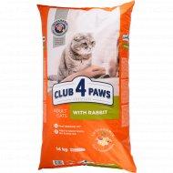 Сухой корм для взрослых кошек «Club 4 Paws» с кроликом, 14 кг
