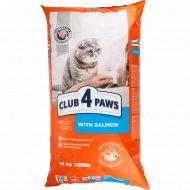 Сухой корм для взрослых кошек «Club 4 Paws» с лососем, 14 кг.