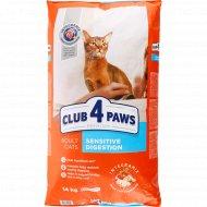 Сухой корм для кошек «Club 4 Paws» чувствительное пищеварение, 14 кг.