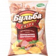 Чипсы «Бульба Chips» со вкусом деревенских копчёностей 75 г.