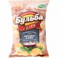 Чипсы картофельные «Бульба Chips» со вкусом сметаны и лука 75 г.
