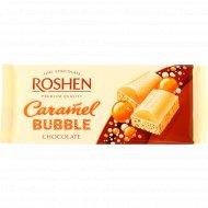 Шоколад пористый белый «Roshen» карамель, 80 г.