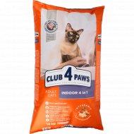 Сухой корм для взрослых кошек «Club 4 Paws» 4 в 1, 14 кг