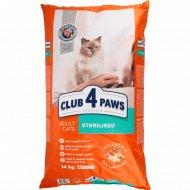 Сухой корм для взрослых стерилизованных кошек «Club 4 paws» 14 кг