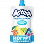 Йогурт питьевой «Агуша» с яблоком и грушей, 2.7%, 85 г