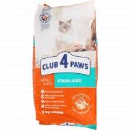 Сухой корм для взрослых стерилизованных кошек «Club 4 paws» 5 кг.