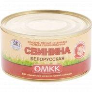 Консервы мясные «ОМКК» свинина белорусская, 525 г
