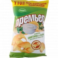 Чипсы картофельные «Премьер» сметана и сыр, 110 г.