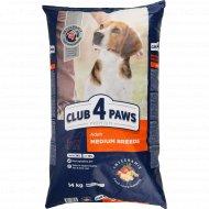 Сухой корм для взрослых собак средних пород «Club 4 Paws» 14 кг.