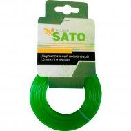 Шнур косильный «Sato» Techno, круглый, 1.6 мм х 15 м