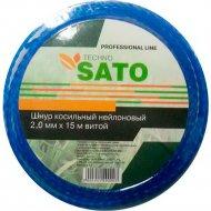 Шнур косильный «Sato» Techno, круглый, 2 мм х 15 м