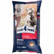 Корм для щенков премиум «Club 4 Paws» с курицей, 14 кг.