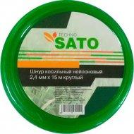 Шнур косильный «Sato» Techno, круглый, 2.4 мм х 15 м