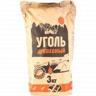 Древесный уголь для грилей и мангалов, 3 кг.